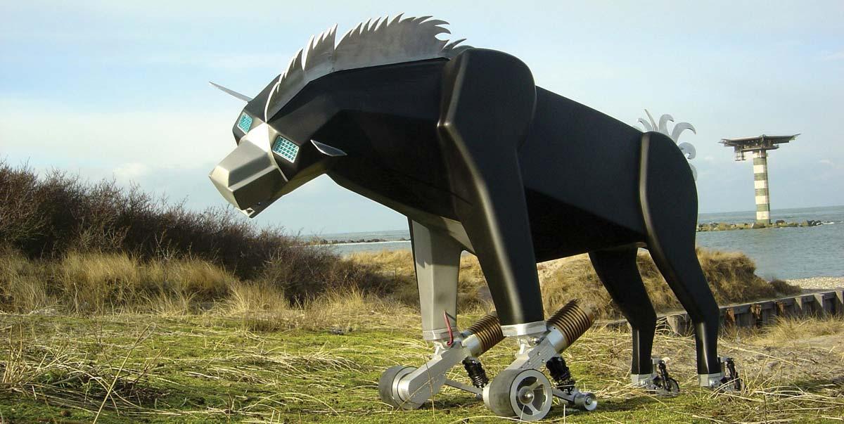 marco kruyt hyena robot kinetische kunst kinetische kunst. Black Bedroom Furniture Sets. Home Design Ideas